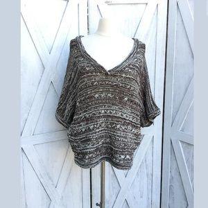 Vertigo Chunky Cropped Sweater Sz L Nwt $150